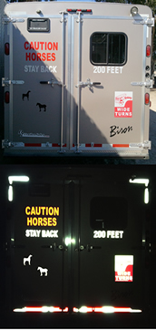 "4"" Tall CAUTION HORSES STAY BACK 200 FEET"